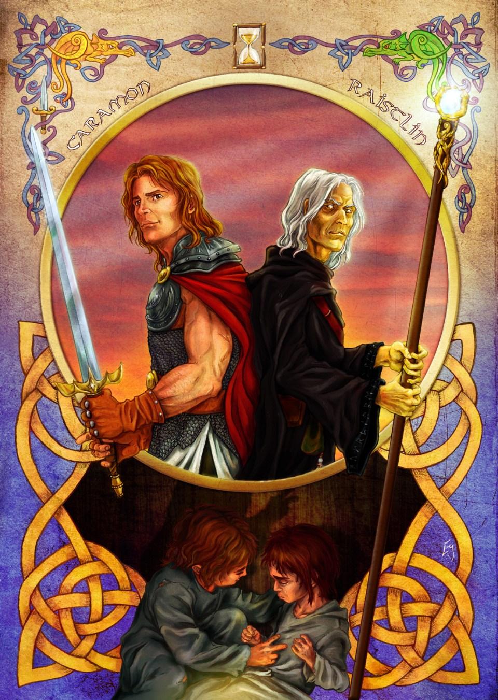 Caramon y Raistlin los hermanos Majere de niños y de adultos