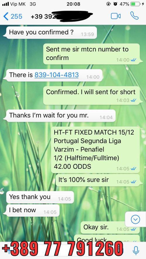 41 odds 21 fixed match won