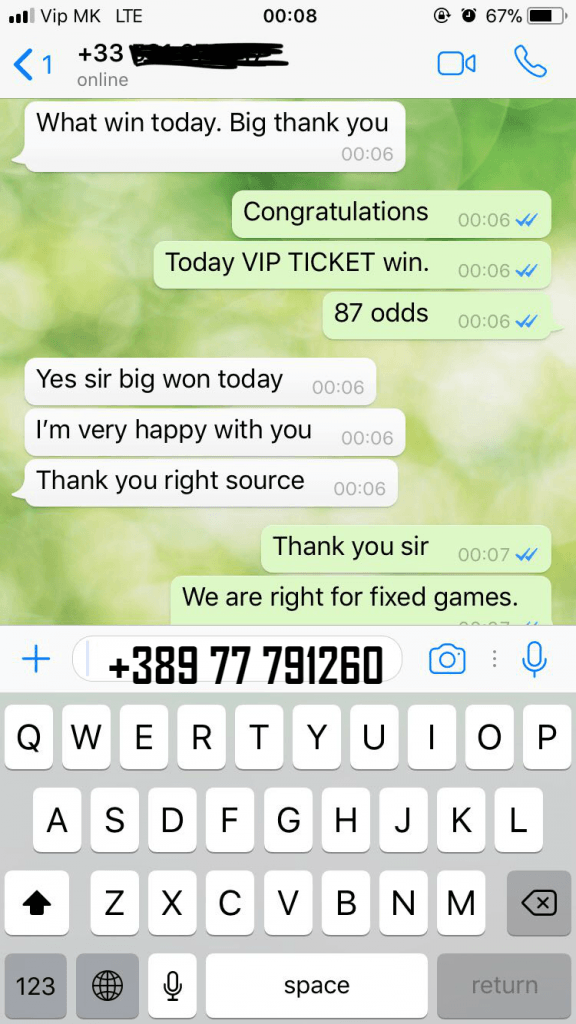 VIP TICKET FIXED MATCHES SURE WIN MANIPULATED MATCHES SOLOPREDICT