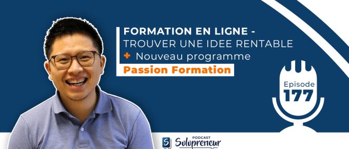FORMATION EN LIGNE – TROUVER UNE IDEE RENTABLE + Nouveau programme Passion Formation
