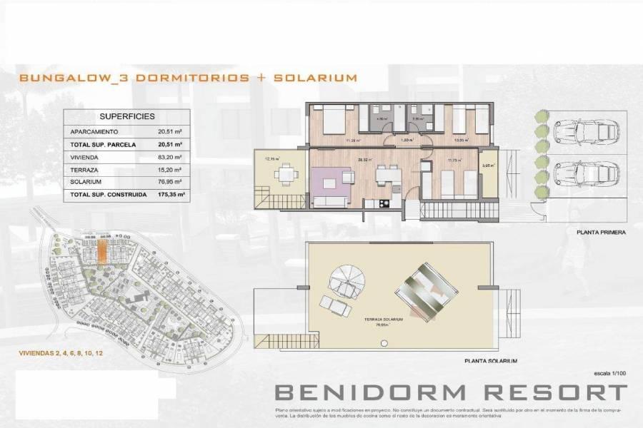 Finestrat,Alicante,España,3 Bedrooms Bedrooms,2 BathroomsBathrooms,Bungalow,26795