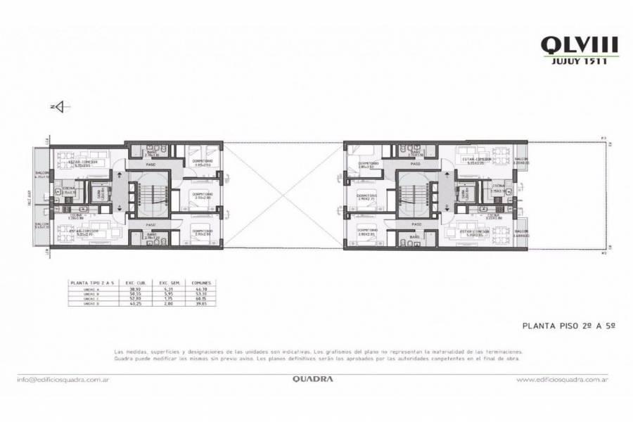 Rosario,Santa Fe,1 Dormitorio Habitaciones,1 BañoBaños,Departamentos,Quadra LVIII,Jujuy,8,1535