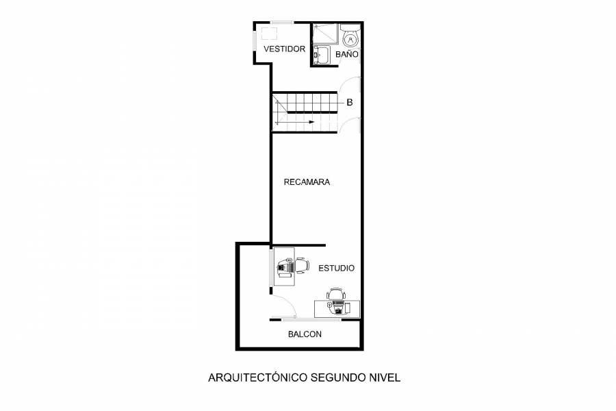 Plano arquitectónico tercer piso