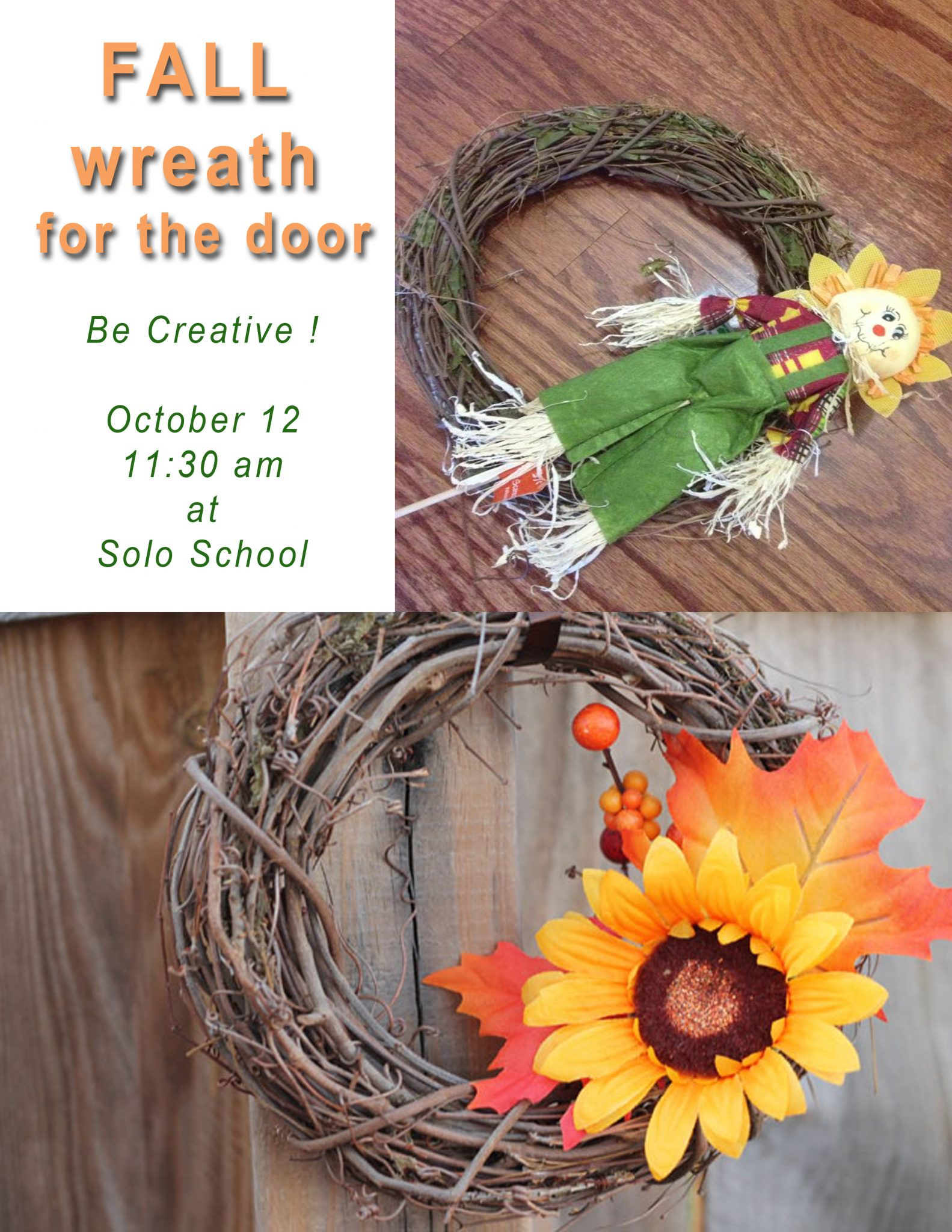2013 – October 12 – Workshop Fall-Wreath