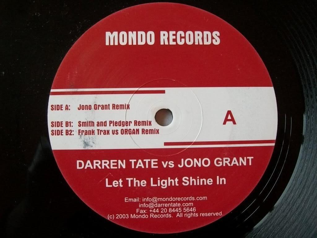 Darren Tate vs Jono Grant – Let The Light Shine In