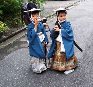 Samurai in Training at the Shimada Obi Festival, Oct. 2004