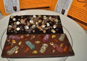 Chocomize Chocolate Bars - Solo Travel Girl Spice on Top, Solo Travel Girl Quirky on Bottom