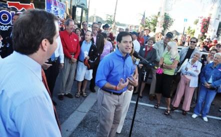 Marco Rubio, Republican Candidate for the U.S. Senate Campaigns in Sarasota, Fla.