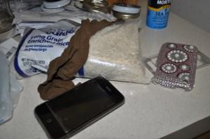 Drying Tools - Knee-High Stocking, Dry Rice, Plastic Bag (Not the Salt)