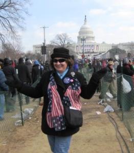 Me at the Inauguration of President Barack Obama, Jan. 20, 2009