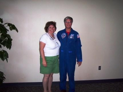 Me and Astronaut Col. John Blaha, June 2006, Kennedy Space Center, Fla.