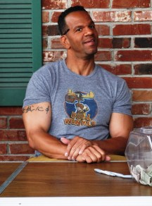 Former Buffalo Bills Wide Receiver, Andre Reed, in Clarence, N.Y., Promoting His All Purpose Sauce, June 4, 2011