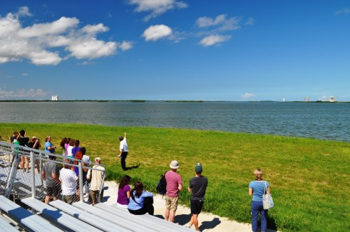 Stop at the NASA Causeway, Kennedy Space Center