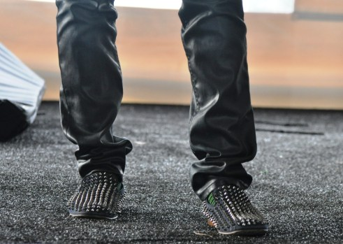 will.i.am's Rock Star Shoes, NASA Tweetup, Kennedy Space Center, Nov. 26, 2011