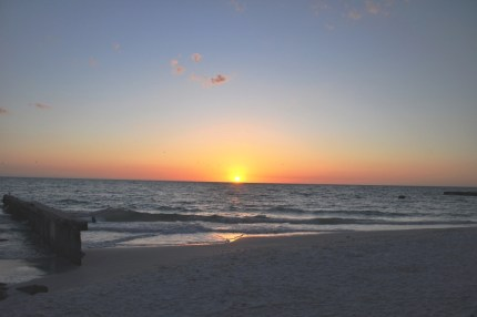 Sun Slipping into the Gulf of Mexico off Siesta Key, Sarasota, Fla.