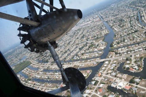View of Port Charlotte from 1920 Ford Tri-Motor, April 10, 2012