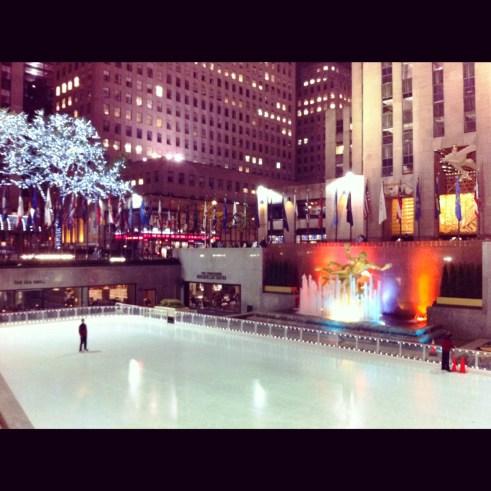 Rockefeller Center Ice Skating Rink, New York City, April 2012