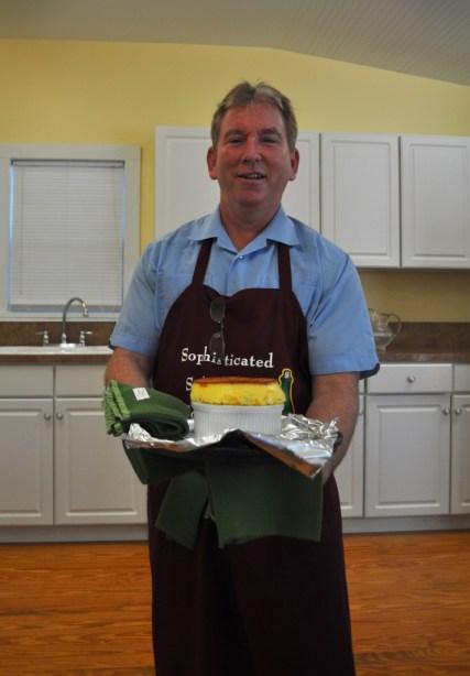 Chef Jim Tuttle Displays a Cheese Souffle, Mount Dora Historic Inn