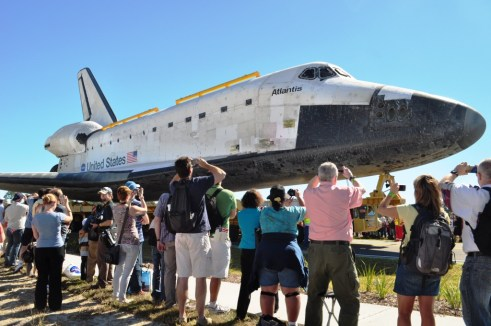 """""""That's one big spaceship!"""" Overheard during the Atlantis Rollout at Kennedy Space Center, Nov. 2, 2012"""