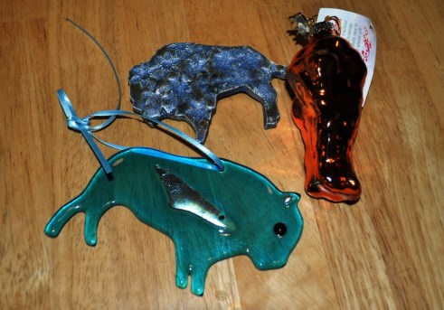 Buffalo Goodies I Received for Christmas, Including a Chicken Wing Ornament