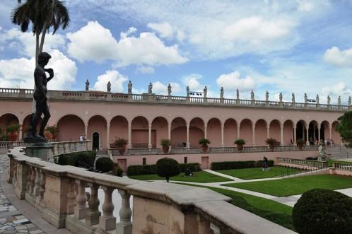 Courtyard of the Ringling Museum, Sarasota, Fla.