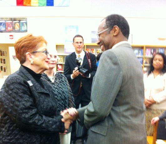 Dr. Ben Carson in the Receiving Line at Booker Middle School, Sarasota, Fla., Feb. 27, 2013