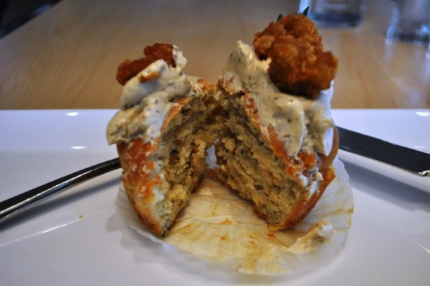 Spicy Conch Fritter Cupcake, Harvest Bistro, Cupcake Lovers Weekend, Hilton Orlando Bonnet Creek, Orlando, Fla., June 15, 2013