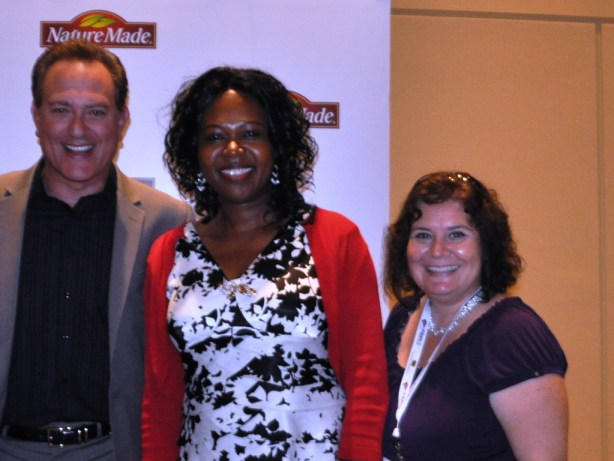 And That's Me with Registered Dietician and Author David Grotto and Dr. Chioma Ikonte during the Nature Made VitaMelts Breakfast during BlogHer 2013 in Chicago