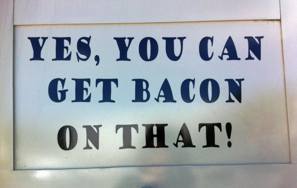 Bacon, It's an Option. The Ravenous Rhino, a Southwest Florida Food Truck in Charlotte County