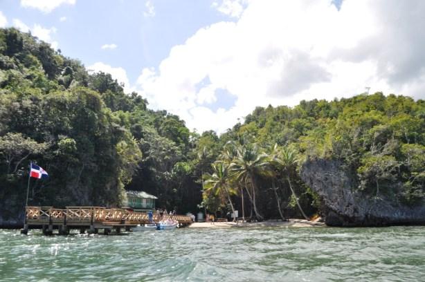 Dock at La Cueva de la Arena, Los Haitises National Park, Dominican Republic