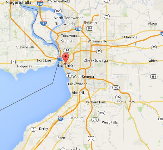Buffalo, As Seen by Google