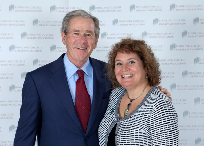Since I'm Writing About the Bush Family, Thought I'd Throw in This Me with President George W. Bush in Sarasota Earlier This Year. Image Credite: http://www.robertpopephotography.com