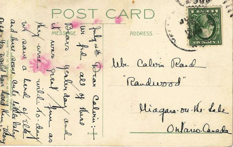 A Postcard from a Yellowstone National Park Visitor, 1916