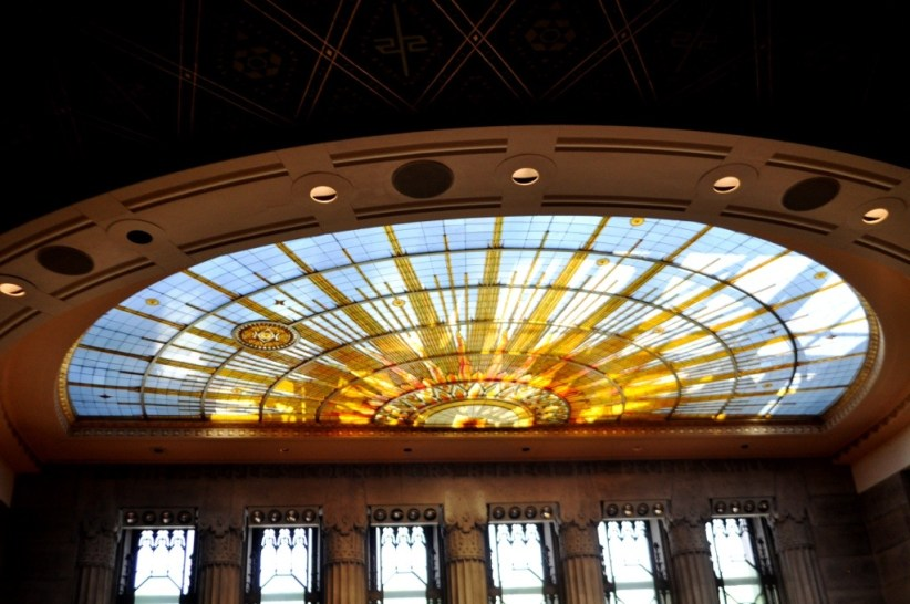 Isn't This Ceiling in Buffalo's City Hall's Chambers Incredible? Aug. 2014