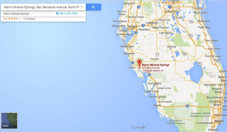 Geography - Where is Warm Mineral Springs?