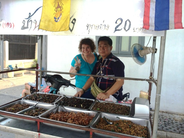 Me and the Bangkok Insect Vendor.