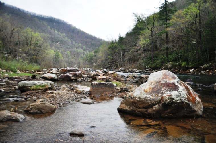 Can you picture yourself here? Maury River - Goshen Pass, Virginia.