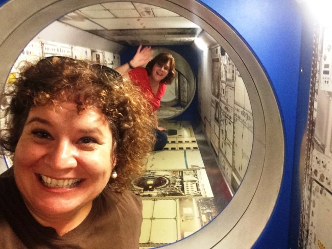 That's Me and My Friend VM Having a Blast 25 Feet Above the Ground at the Kennedy Space Center Visitor Complex, Oct. 2015