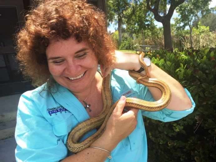 I can handle snakes. This is me with a rat snake, May 2015.