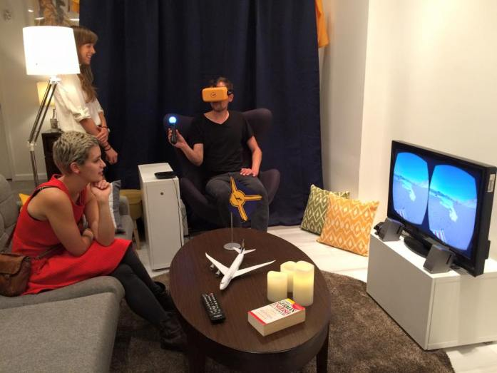 Virtual Reality Lufthansa Flight in the Lufthansa's Guest Haus During the Tampa/Frankfurt Inaugural Flight Weekend in Sept. 2015