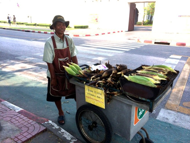 Roasted Corn is One of My Favorite Foods! Bangkok, Thailand, March 2015.