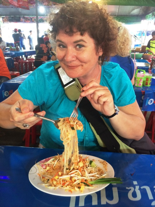That's Me with Pad Thai at Chatuchak Weekend Market, Bangkok, Thailand, March 2015.