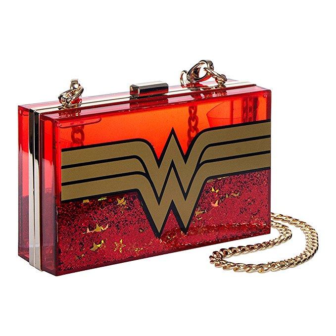 Wonder Woman Glittery Clutch