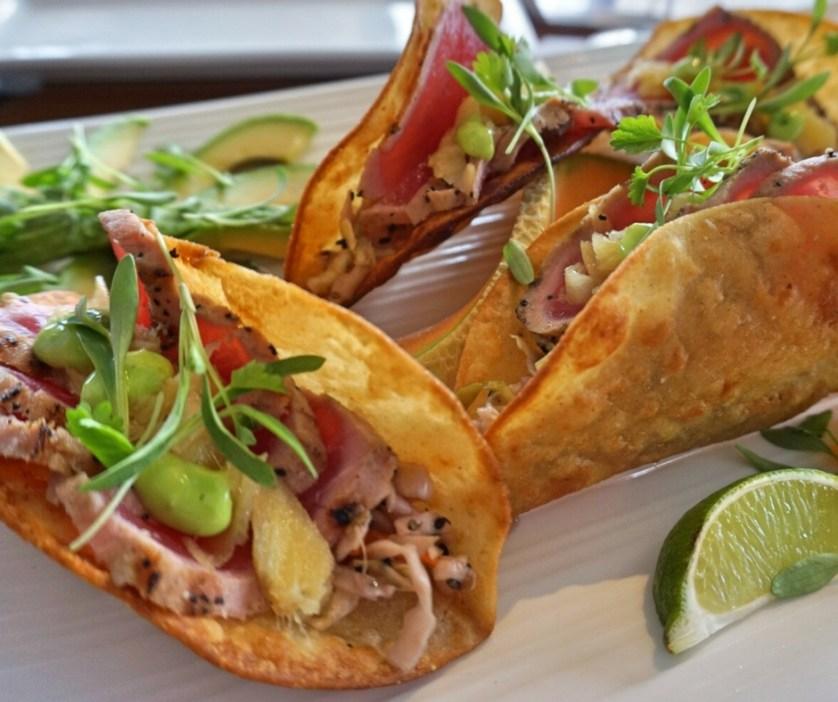 Seared Tuna Taco, Nauti Parrot Dock Bar, Fort Myers Beach, Fla.