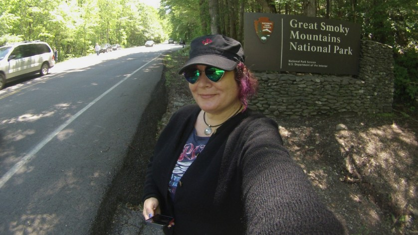 Selfie in Great Smokey Mountains National Park, Tenn.