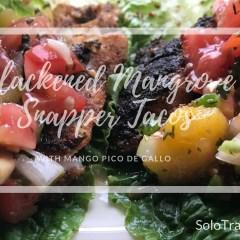 Recipe: Blackened Mangrove Snapper Tacos with Mango Pico De Gallo