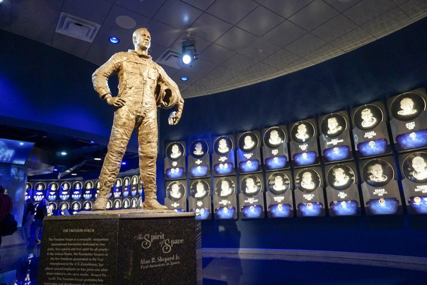 """""""The Spirit of Space"""" Sculpture in Legends & Heroes and the U.S. Astronaut Hall of Fame Presented by Boeing, Kennedy Space Center Visitor Complex."""