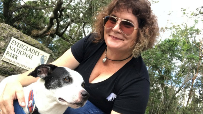 Perfecting the Selfie with My Dog Radcliff in Everglades National Park