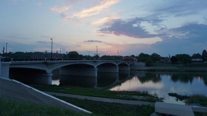 Great Miami River in Hamilton, Ohio.