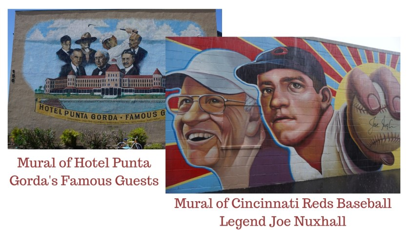 A Mural in Punta Gorda, Fla. and a Mural in Hamilton, Ohio. August 2018